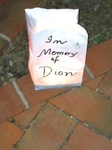 An example of a luminary memorial from last year.